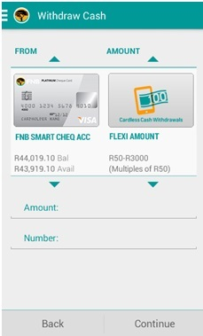 Make cardless cash withdrawals with the FNB app