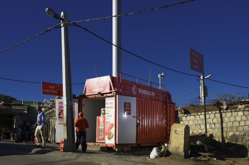 Vodacom Container Base Station Alexandre Township Sandton