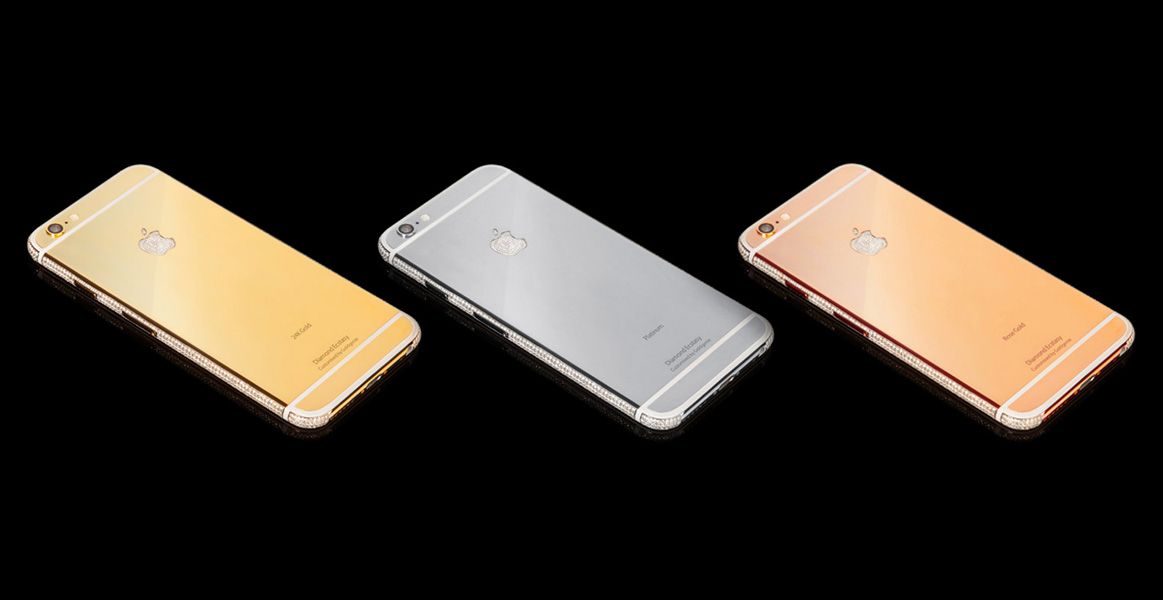 Gold iPhone Row