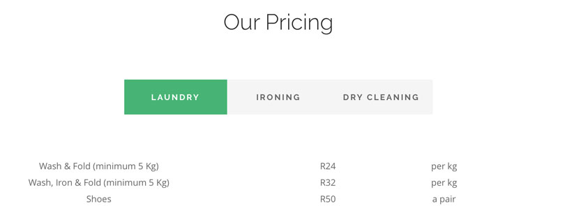 Just-Laundry-pricing