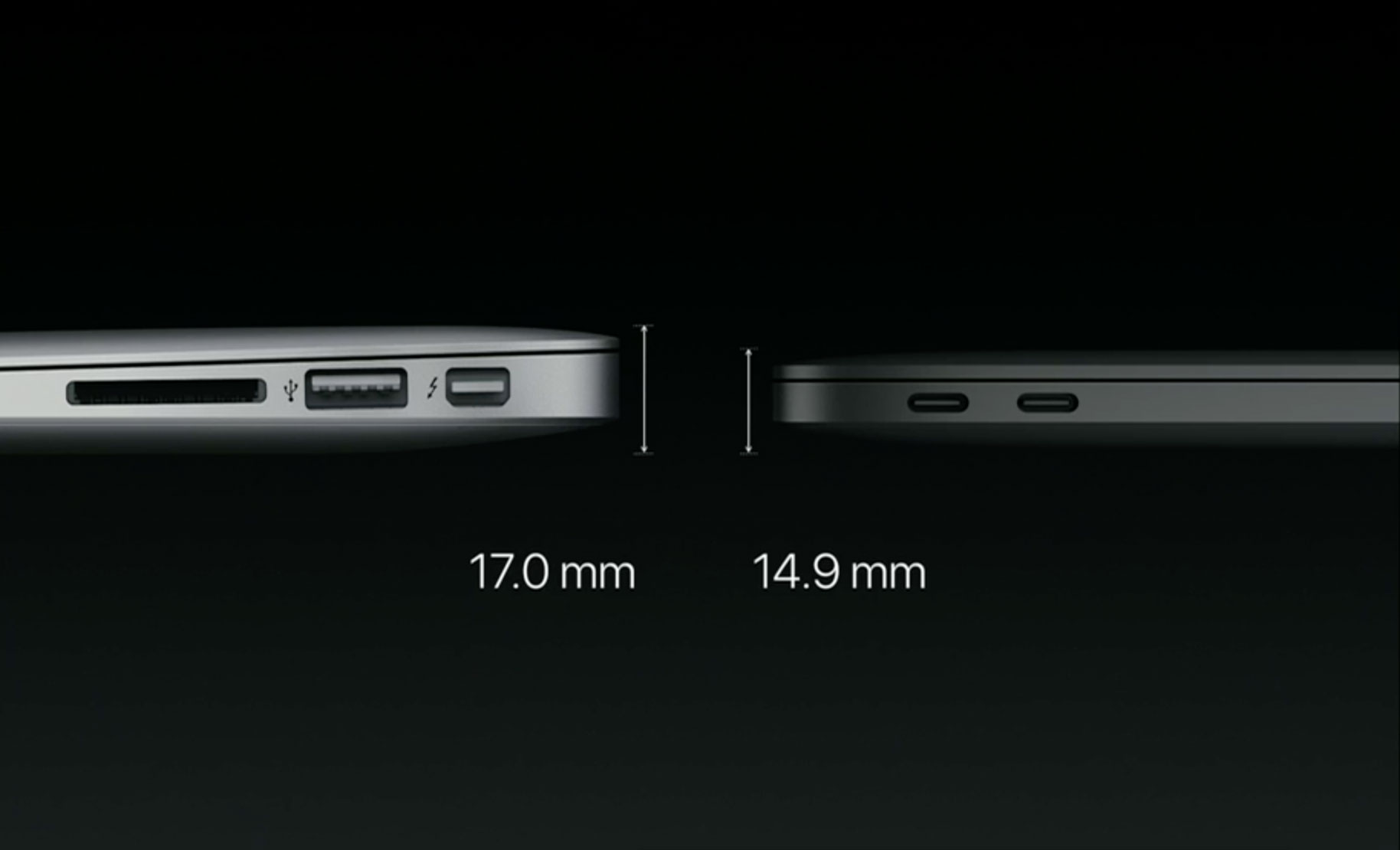 MacBook Air 13in on the left, 13in MacBook Pro on the right