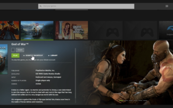 God of War in Nvidia GeForce Now