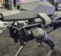 The SPUR is a scary remote-piloted robotic quadruped packing a mounted rifle